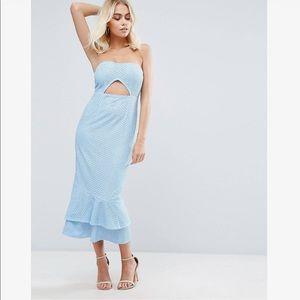 Asos Pretty Little Thing Lace Bandeau Midi Dress